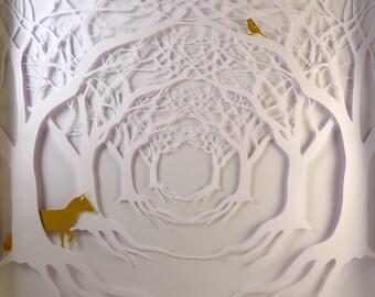 Tree Tunnel. Hand cut original artwork.