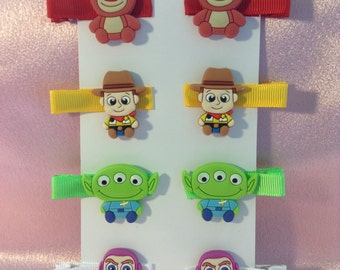 Toy Story Girls Hair Clips 4 Pairs!