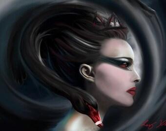 Natalie Portman-Black Swan Digital Artwork