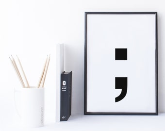 Quote Print and/or Frame - Symbol ';' (Semicolon)