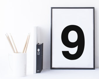 Quote Print and/or Frame - Number '9'