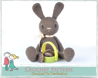 Amigurumi Pattern, Amigurumi Crochet Pattern Bunny Rabbit, Crochet Amigurumi Pattern, Crochet Pattern, Amigurumi Animals, Crochet Animals