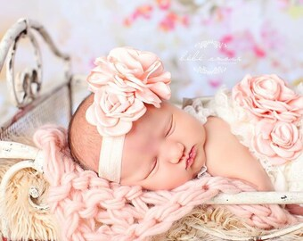 Peach/Ivory/Light Pink/Lavender/Hot Pink/Taupe Flower Sash SET/SEPERATES/Infants/Toddlers/Adolescents/Maternity Sash/Flower Girl Sash Set