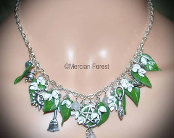 Brigid's Blessing Snowdrop Necklace - Pagan Jewellery Inspired by Imbolc, and the Spring Goddess of Creativity