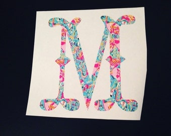Monogram Decal - Lily Pulitzer - Whale Tail - Personalized - Decals