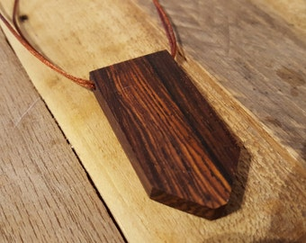 Cocobolo Pendant Necklace - NBS018