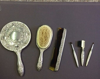 Silver plated Vanity Set