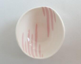 Small Pink Stripe Bowl