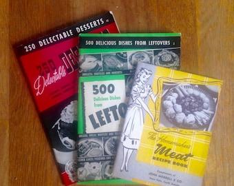 Vintage Cookbook Set