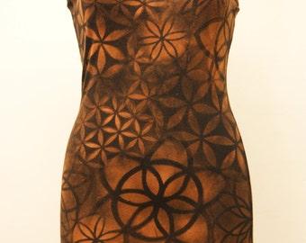 Flower of Life Long Singlet Dress