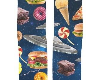 UFO Galaxy Junk Food Socks