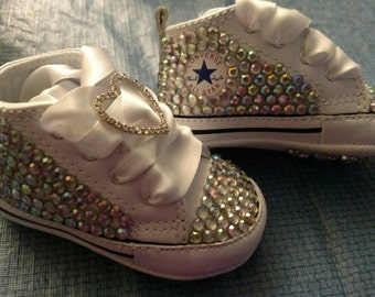 Bling Converse crib shoes