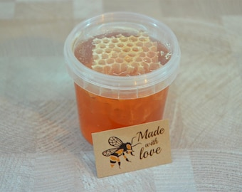 Honey with comb / Honeycomb in honey / Flower honey 2015 Fresh From Bee Hives