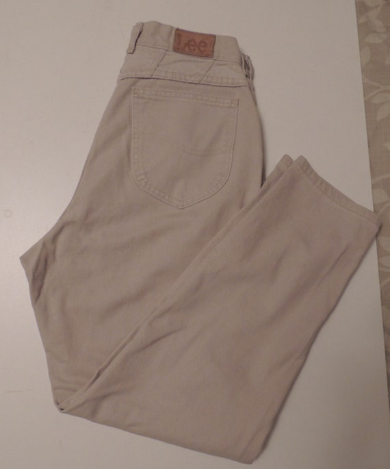 "Vintage Lee ""Mom"" Jeans High Waisted Size 12 - Beige Tan"