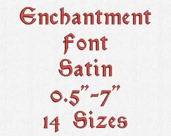 Enchatment Font 14 Sizes Embroidery Design
