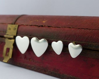 Mother and Daughter Heart Earrings