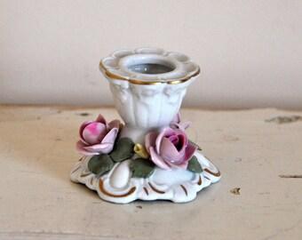 Napoli Porcelain candleholder, marked