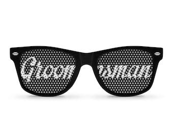 GROOMSMAN Black Retro PartyWedding Sunglasses