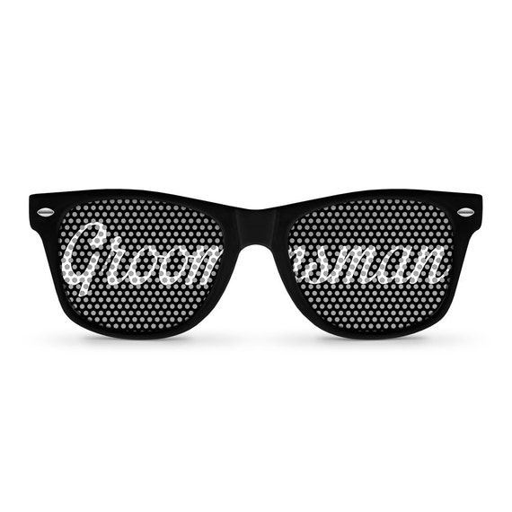 GROOMSMAN Black Retro PartyWedding Sunglasses