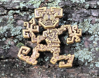 Bismuth Monster 3D Pin by Adriel Restrepo