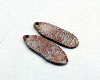 Love Letter - Ceramic Dangles -  Earring Pair - pendants