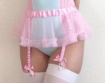 Pink Tutu Garter Belt