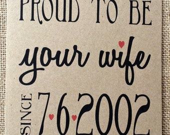 Personalized Valentine card, Personalized anniversary card, greeting cards, wife, husband