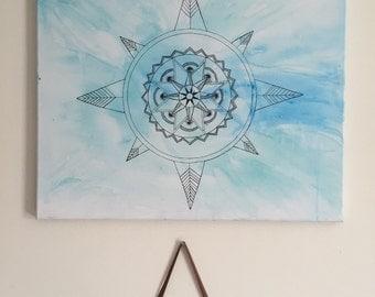 Watercolor Mandala Painting