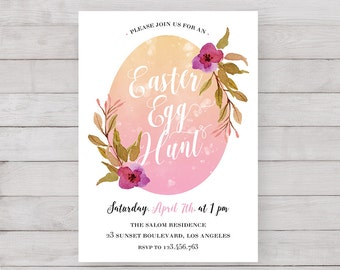 Printable Easter Invitation | Easter Brunch Invitation | Easter Egg Hunt Invitation | Easter | Easter Brunch |