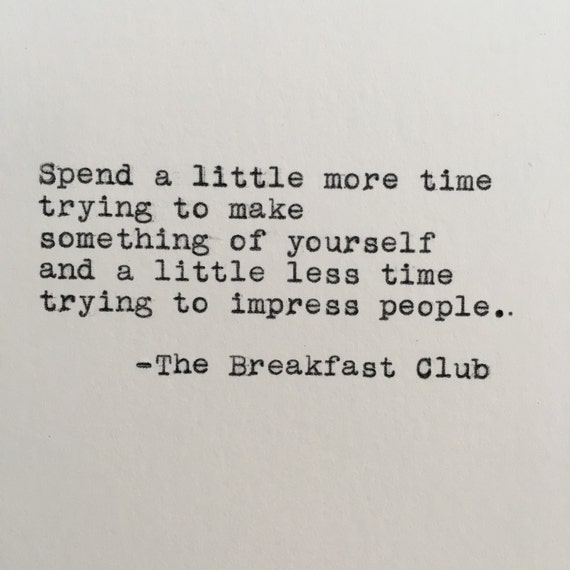 the breakfast club essay quote Breakfast club opening craig goetsch loading unsubscribe from craig goetsch cancel unsubscribe working subscribe subscribed unsubscribe 53.
