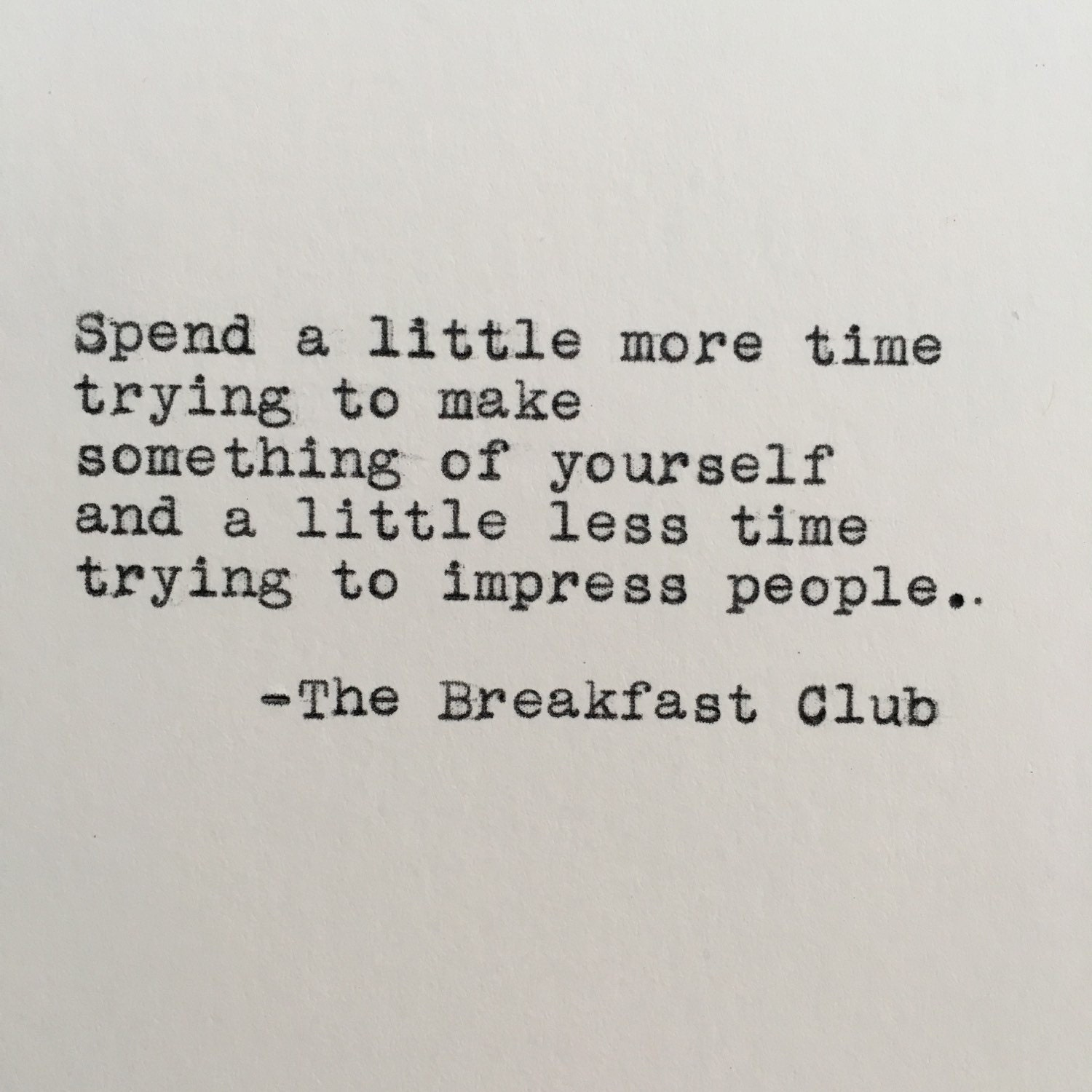 The breakfast club essay quote