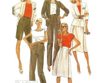 McCall's Sewing Pattern 7569 Misses' Jacket, Blouse, Skirt, Pants, Shorts  Size:  12  Uncut