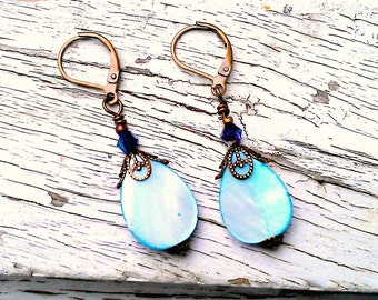 Jewelry Earrings, Earrings Jewelry, Dangle Earrings, Drop Earrings, Mother of Pearl, Filagree, Leverback, Gift for Women, Gift for Her, Gift
