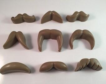 Mustache Soaps / Hipster Soap / Mini Guest Soap / Natural Soap / 2 oz Soap / Goat Milk Soap / Wedding Favor / Groomsmen Gift / Set of 9