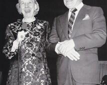 "Vintage Original photograph Bob Hope, Mamie Eisenhower  - ""Raise Funds"" - Des Moines - dated: 10/26/76---FREE SHIPPING !!!"