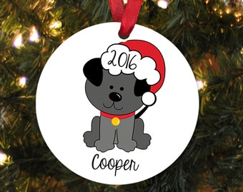 Dog Christmas Ornament - Personalized Christmas Ornament for Dog - New Dog Gift