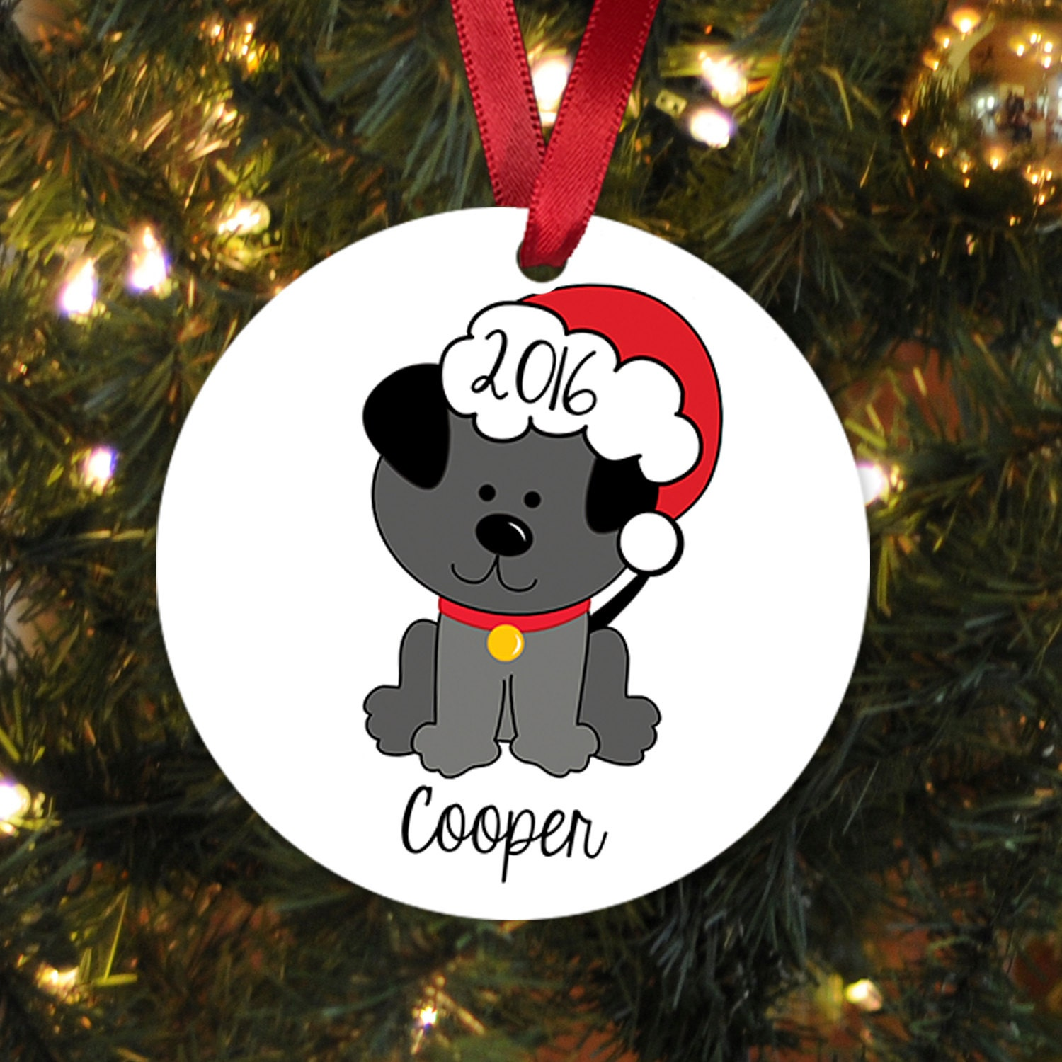 Dog christmas ornament personalized christmas ornament for for Personalized christmas photo ornaments