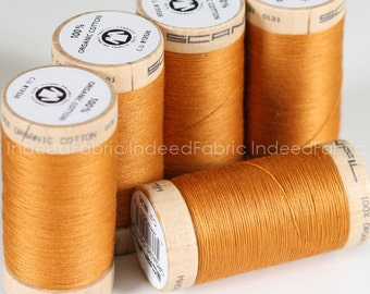 Ocre, Scanfil Organic Cotton Thread, 300 Yards, Color #4826