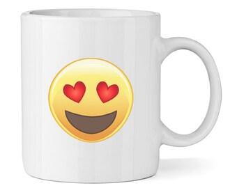 Love Heart Eyed Emoji 11oz Mug Cup