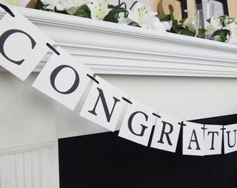 Congratulations banner, congrats sign, class of 2018 banner, graduation party sign, graduation party banner, congrats banner