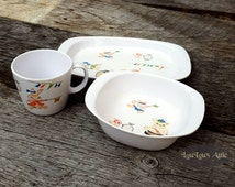Noritake Melamine Children's Dining Set  Whimsical Animals