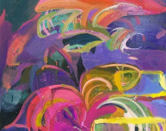 """Original oil painting -""""Whirlwind"""" - Fine art - abstract expressionism painting"""