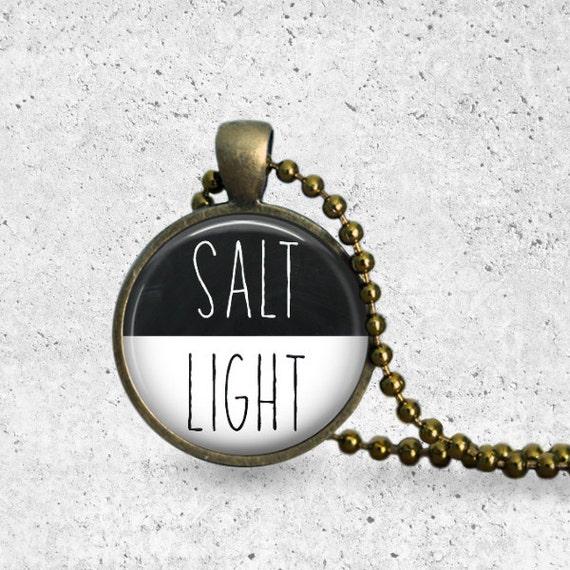 Salt and Light, Pendant, Salt and Light Necklace, Christian Necklace, Christian Jewelry, Scripture Pendant, Matthew 5, Inspirational Gift