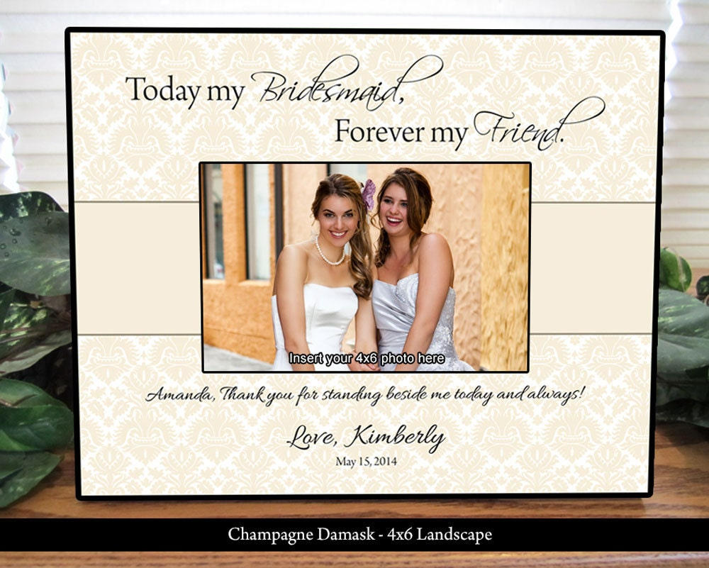 Maid Of Honor Gifts From Bride: Bridesmaid Frame Maid Of Honor Frame Personalized Gifts