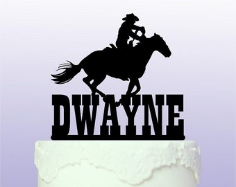 Personalised Western Riding Cake Topper