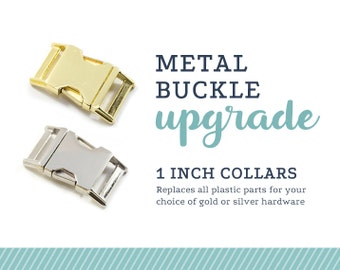 Metal Buckle Upgrade for a 1 inch collar