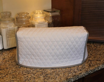 Panini or Griddler Cover - 300+ color combos - Covers any Brand (White/Med Gray Shown) - Great Gift Idea! Gift under 35 - Kitchen Item
