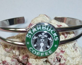 Complete Silver Bangle Snap It Bracelet ~ Starbucks Charm Shown is Included