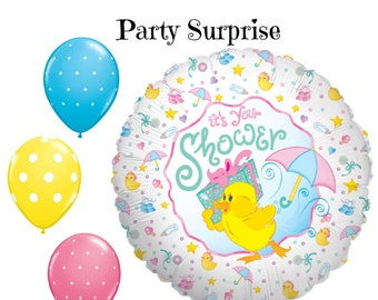 Sale Baby Shower Duck Balloons Baby Duck Boy Shower Girl Shower Balloon  Package Ducks Themed Baby