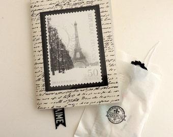 Winter in Paris Journal, Holiday Paris Notebook, Christmas Paris Notebook, Paris Travel Journal, French Ephemera